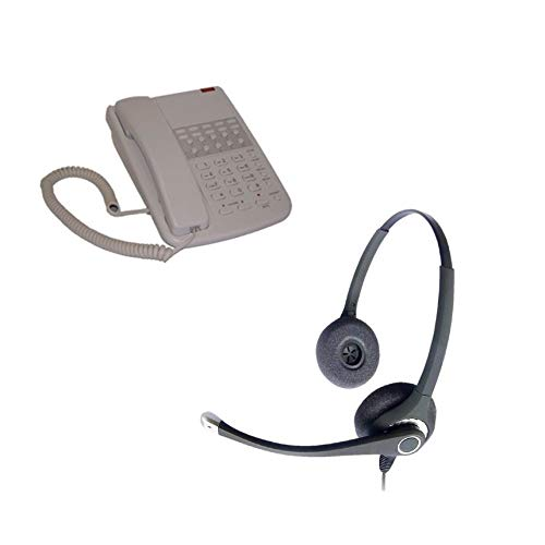 Orchid DBT2000 Business Phone - Light Grey + Project 202 Binaural Noise  Cancelling Headset