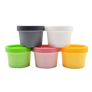 5 unidades de 100 ml color al azar, tubo recto sellado portátil, para baño, barro, manualidades, caja de botella, cuenco…