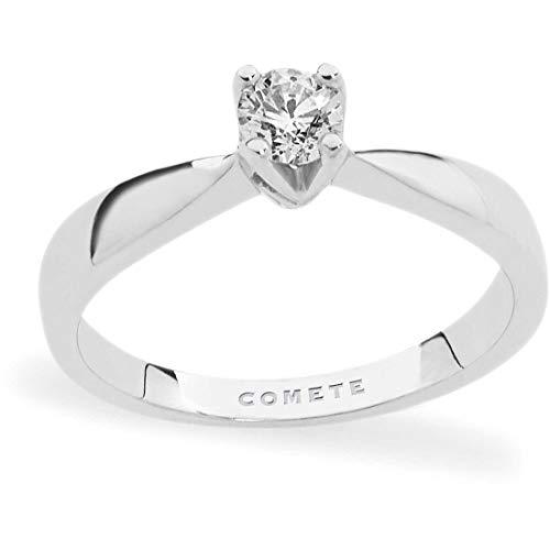 Comete Anello Gioielli Modello Solitario in Oro 750/000 Impreziosito da Diamante con19 ct. Misura 14 Referenza ANB 2067/14