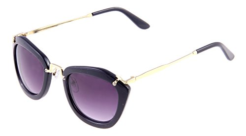 Di Tutti Violet Women's Oval Sunglasses 100%UV Protected Portable Zipper Hard Case for Sunglasses