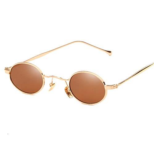 2THTHT2 Kleine Runde Sungalsses Frauen Metallrahmen Fashionsun Brille Für HerrenBraun