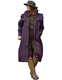 Sherwood Oakfield Ragley Superior Quality Full Length Ladies Waterproof Coat - Mulberry