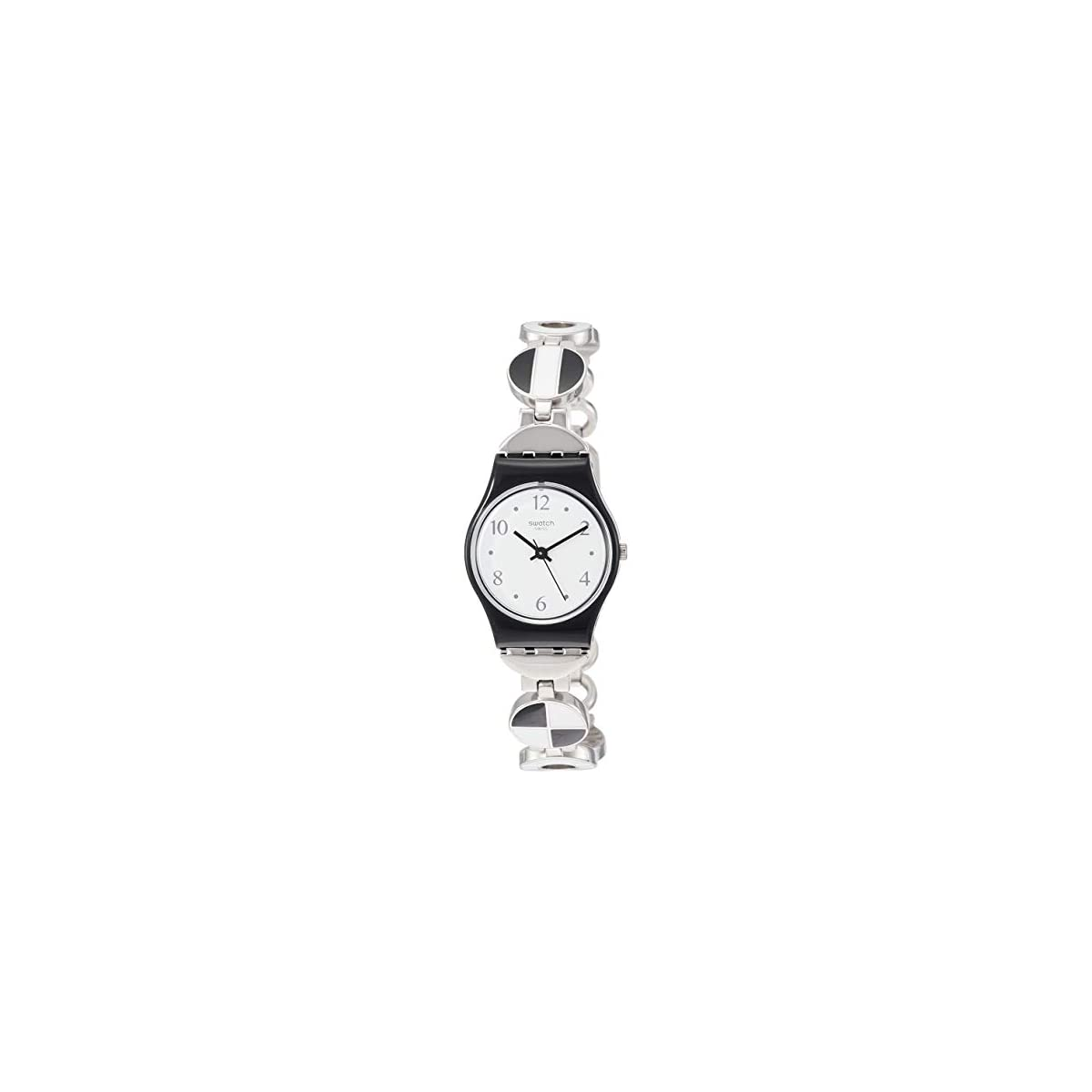 31WDSLYrH0L. SS1200  - Swatch Reloj Analógico para Mujer de Cuarzo con Correa en Acero Inoxidable LB185G
