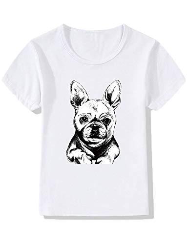 YZHEN Jungen/Mädchen Unisex Casual 3D Print Tops Mops Welpen Kinder T-Shirt