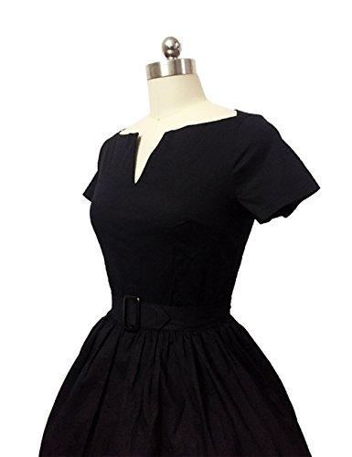 VKStar® ALinie Vintage 1950s Sommer Damen VAusschnitt Kleid Audrey ...