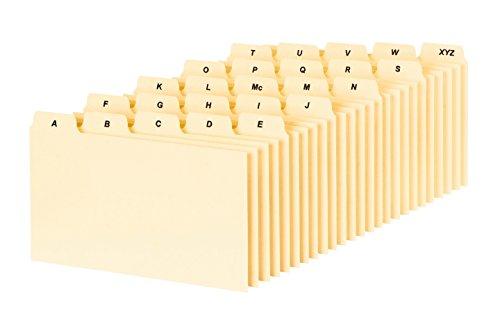 Oxford A-Z Index Card Guide Set, 7,6x 12,7cm, Manila, 25pro Set (B5325) Rezept-teiler