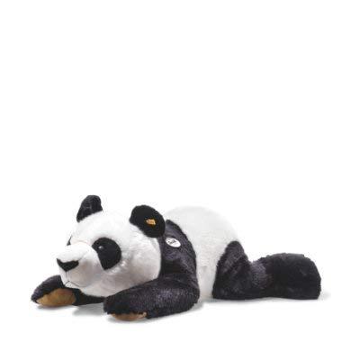 Steiff 60342 Ping Panda 85 schwarz/Weiss liegend Bär