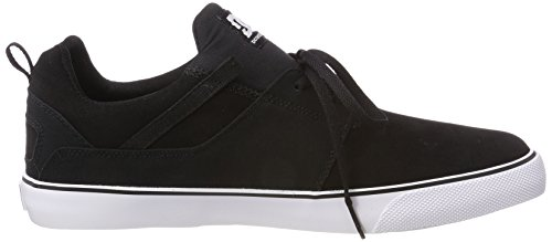 DC Shoes Herren Heathrow Vulc Sneaker Schwarz (Black/White Bkw)