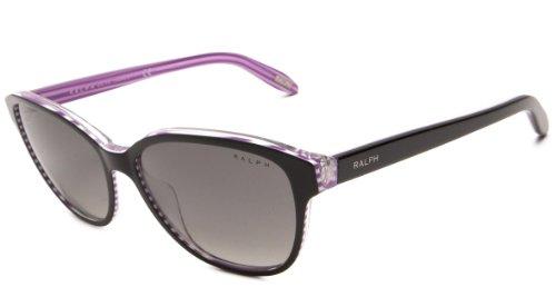 Ralph Lauren Purple Label Damen RA5128 Sonnenbrille, Mehrfarbig (Black Striped Violet Crystal 960/11), One size (Herstellergröße: 55)