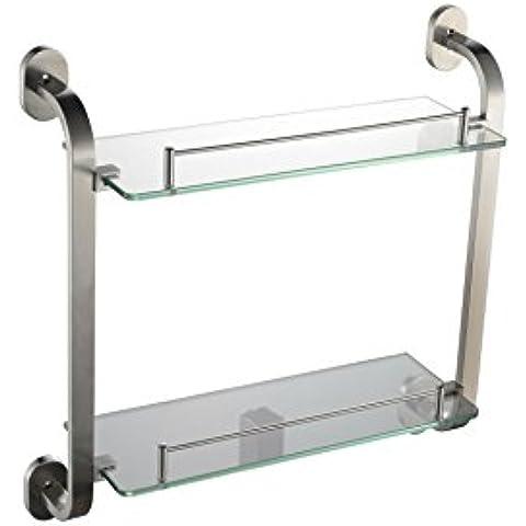 YM@YG Moda semplici per ripiani Porte bagno vetro doppio piedistallo