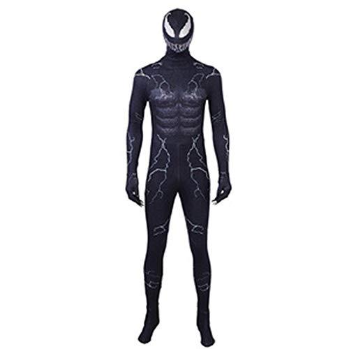 HYYSH Halloween Film Cartoon Anime Dress Up Charakter Erwachsene Kostüm Gedruckt Held Cosplay Venom COS Kleidung (größe : L) (Erwachsene Cartoon Kostüme Charakter)