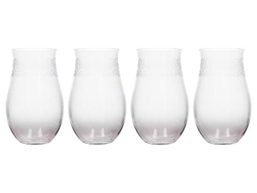 Katie Alice C000181 The Collection Lot de 4 verres à verres gravés 380 ml