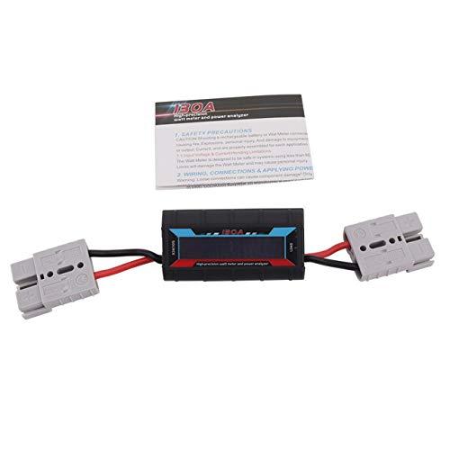 Ballylelly Analyseur de Puissance de 130A Watt Meter Digital LCD Solar Volt Amp