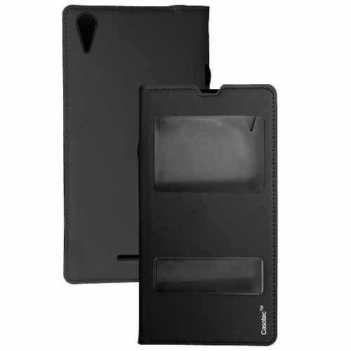 Casotec Premium Flip Case Cover for Samsung Galaxy E5 - Black
