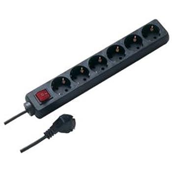 REV STECKDOSENLEISTE 6-fach | Mehrfachsteckdose mit Schalter und Kindersicherung | 1,4 m Zuleitung | für den Innenbereich | Farbe: schwarz