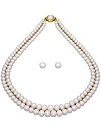 Pearlscart Real Pearls Double String Graded Mala from Hyderabad - PCN1006