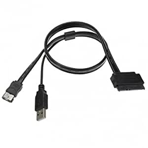 2.5In Hard Drive SATA 22Pin To eSATA Data + USB Powered Cable 50cm