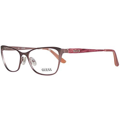 Guess Damen Brille Gu2425 O00 52 Brillengestelle, Silber,