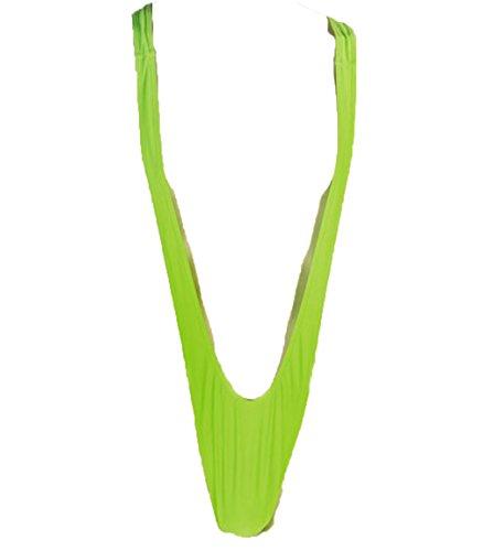 Badehose Kostüm Mankini Posing Pouch Tanga Slip grün