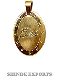Sai Baba Brass Pendant with gold plating