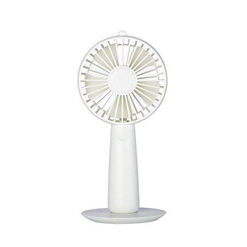 Tischventilator mini ventilator mit Clip elektrische Lüfter für Reisen Büro Zuhause Draußen Innen (Clip/Sockel Design USB aufladbar drehbar Batterie) Weiß (Oszillierende Lüfter Sockel)