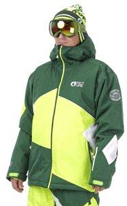 Picture Organic Styler veste de snowboard S grn/neon yllw