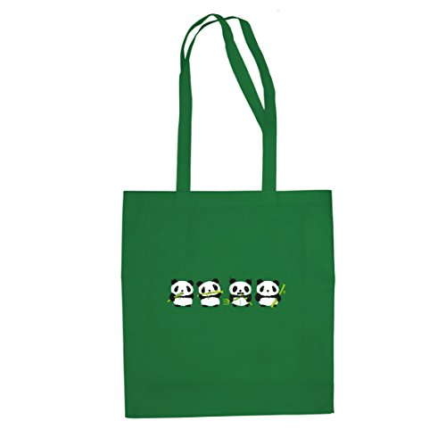 Robo Panda - Stofftasche / Beutel Grün