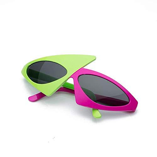 Best-Bag Novelty Asymmetric Sunglasses Lunettes Duo-Tone Drôle Lunettes Costume Rock Star Lunettes Accessoires Photo Lunettes Toy pour Hip Hop Dance Fête d'halloween
