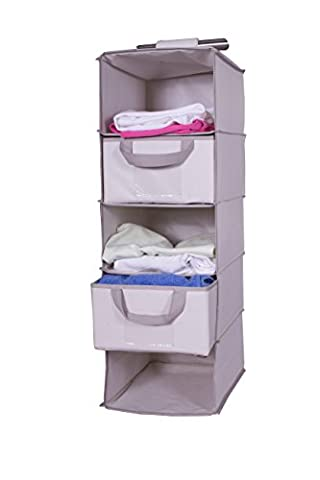 H & L Russel Polyester 5 Pocket Sweater Organiser with 2 Drawers
