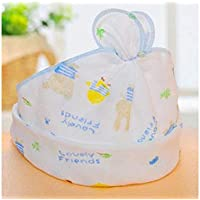 FOUGNOGKISSS Precioso Conejo Recién Nacido Impresión Fetal Gorra Gasa Infantil Transpirable Sudadera Sombrero Sombrero Vacío Vacío para 0-6 Meses (Color : Azul, tamaño : 20x13cm)