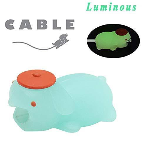 Cooljun Nouveau câble Bite,Lumineux câble Lightning Accessoire,Cordon de câble Protège,pour Iphone x/8/8 Plus/7/7 plus/6/6s plus/5/5S