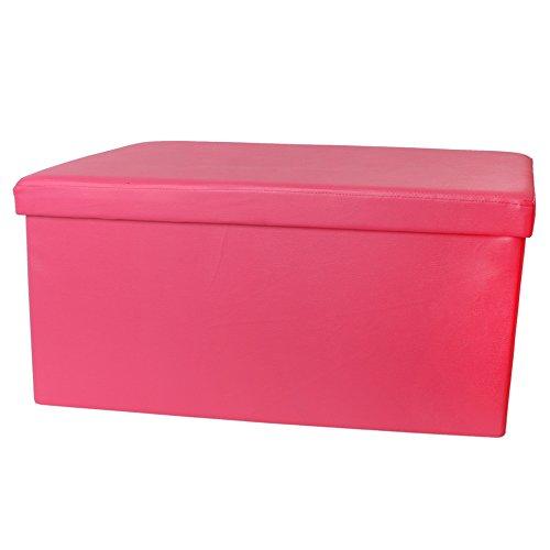 teprovo Design Sitzwürfel Pink Girl Mädchen Sitzhocker Sitztruhe 80 cm Aufbewahrungsbox faltbar bis 300 kg belastbar