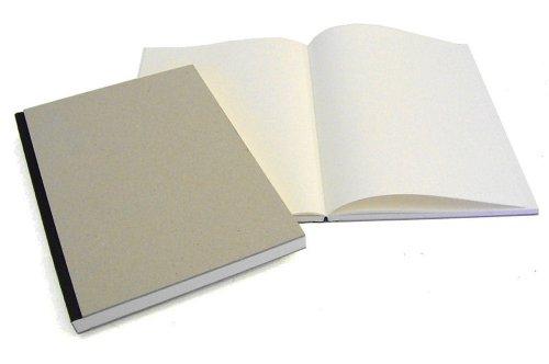 Projektskizzenbuch / Zeichenbuch, 21 x 21 cm, 144 Seiten Einband natur, Rücken SCHWARZ