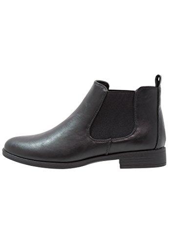 Anna Field Ankle Boots Damen in Schwarz - Boots mit Blockabsatz IM Metallic Look in Größe 39 (Boots Schuhe Ankle)