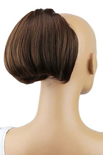 PRETTYSHOP Dutt Haarteil Zopf Haarknoten Hepburn-Dutt Haargummi Hochsteckfrisuren braun mix #4/30 HD15