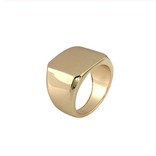 �r Square Ring Men Width Signet Polierte Fingerringe Punk Ring Jewelry    10 ()