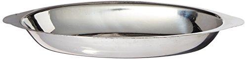 Winco ADO-12 Stainless Steel Oval Au Gratin Dish, 12-Ounce by Winco (Au Gratin Dish Oz 12)