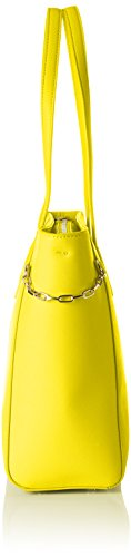 Tommy Hilfiger TH Chain Medium, Sacchetto Donna, 12 x 26 x 32 cm (b x h x t) Giallo (Ceylon Yellow)
