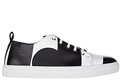 MCQ Alexander McQueen chaussures baskets sneakers homme en cuir chris lace up noir EU 43 421736 R2432