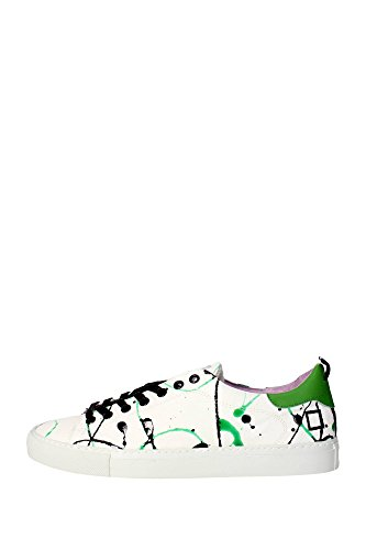 Date, Donna, Ace Pollock Green, Pelle, Sneakers, Bianco, 38 EU