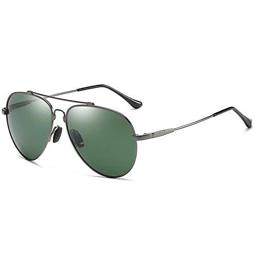 MQW UV400 Gold Silber Schwarz Flying Sonnenbrille Polarized Driving Mirror Sonnenbrille Herrenbrille Driver Driving Frog Mirror Mode Persönlichkeit (Farbe : Silver)