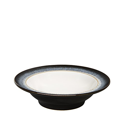 Denby Halo Speiseteller mit breitem Rand Set of 4 Wide Rimmed Cereal Bowls - Rimmed Bowl