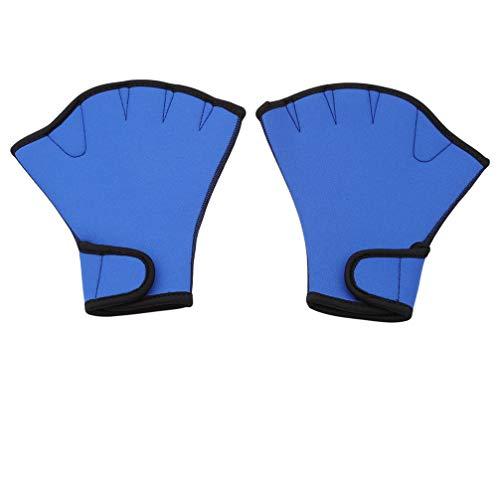 JOMSK Tauchen Schwimmen Surfen Webbed Handschuhe Training Handpaddel Surfen Schwimmen Schwimmen Handschuhe, Handschellen, Schwimmzubehör Tauchen Taschentuch Handschuhe, M