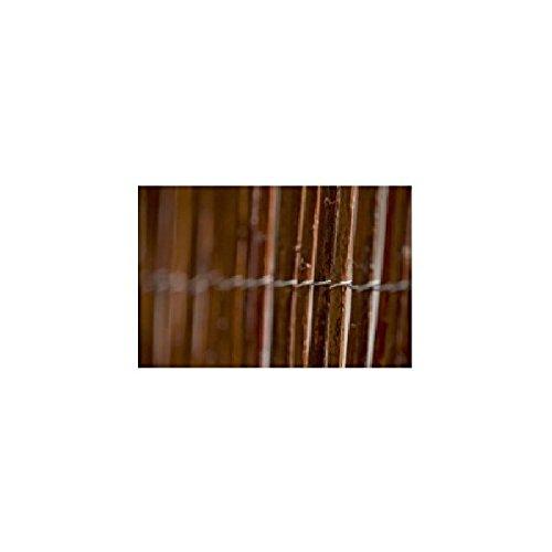 Mimbre Standard - Varillas de mimbre natural sin pelar tejidas con alambre galvanizado (2x3m)