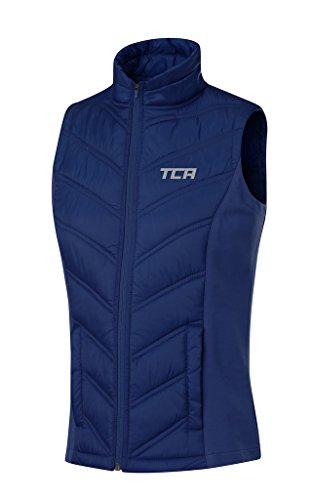 TCA 'Excel Runner' Damen Thermo-Laufweste mit Reißverschlusstaschen - Blau, M