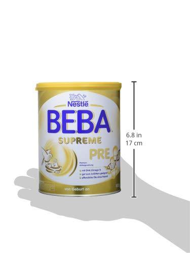Nestlé BEBA SUPREME PRE Anfangsnahrung: von Geburt an, Pulver, hypo-allergene Säuglingsnahrung, mit Omega 3, 1er Pack (1 x 800g)