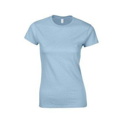 Gildan–T-shirt à manches courtes–Femme bleu ciel