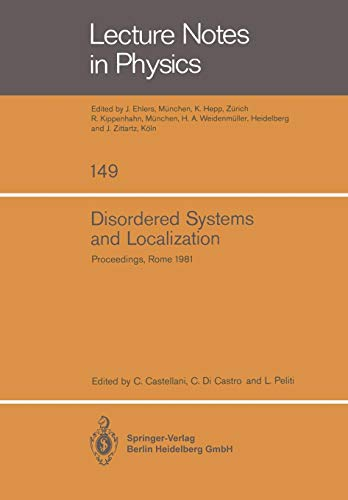 Disordered Systems and Localization: Proceedings of the Conference Held in Rome, May 1981 (Lecture Notes in Physics) - Übergangs-metall