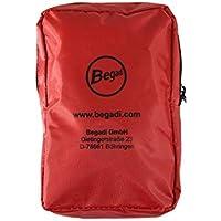 BEGADI Erste Hilfe Set/Verbandset für Wundversorgung, 20-teilig, mit roter Tasche (15 x 9,2 x 4cm) preisvergleich bei billige-tabletten.eu