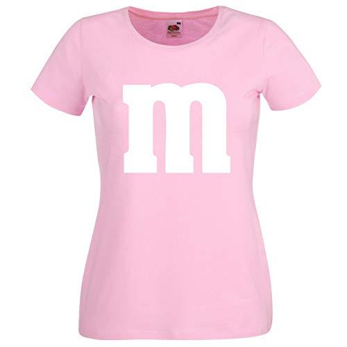 Nation Damen T-Shirt Rundhals Karneval & Fasching JGA - Gruppen-Kostüm M Aufdruck - MM (S, ()